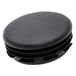 Embout à ailettes rond plastique Noir intérieur 60 mm