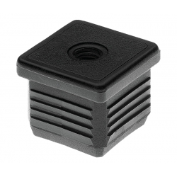Embout carré fileté noir intérieur 30x30 m8