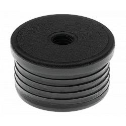 Embout rond fileté noir intérieur 35 mm m10