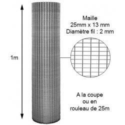Volière 25mm X 13mm diamètre 2mm hauteur 1m