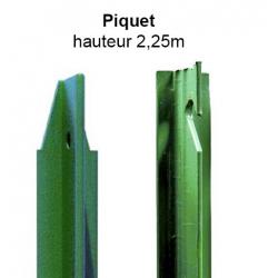 Piquet en té 2,25m vert