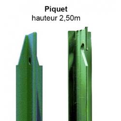 Piquet en té 2,50m vert
