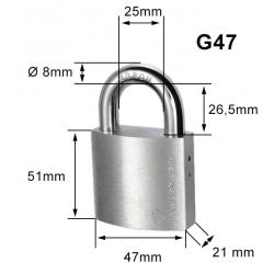 Cadenas 7x7 MUL-T-LOCK G47