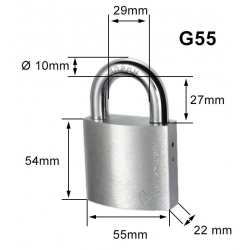 Cadenas 7x7 G55 sans protecteur