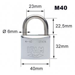 Cadenas inox m-40mm