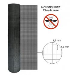 Moustiquaire fibre largeur 1m à la coupe ou en rouleau de 30m