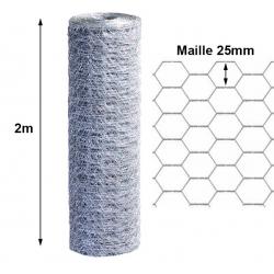 Volière H 2m maille 25 mm rouleau 50m