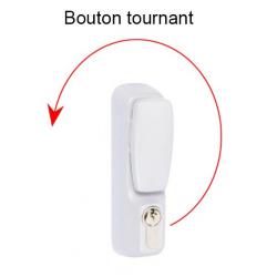 Ensemble bouton cylindre, grand modèle blanc