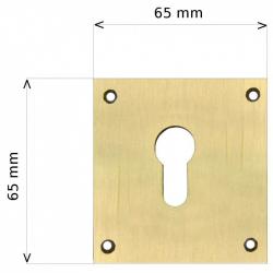 Entrée laiton 65x65mm