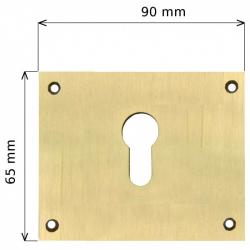 Entrée laiton 65x90mm