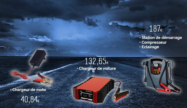 Chargeur batterie auto, moto, bateau